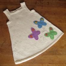 KNITTING BABY GIRL DRESS TUNIC