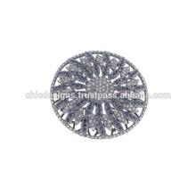Pave Setting Designer Blue Sapphire Rings, Latest Design White Diamond Ring, Stylish Diamond Sapphire Ring