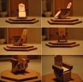 Promotionnel imprimé produits chat sculpture sur bois bois de chat en bois artisanat