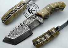 "6.00"" ONE OF KIND! Custom Damascus Full Tang Tracker Hunting Knife (AA-0195-3)"