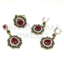 Turkish silver Jewellery Hurrem Sets Red Pear Shape Jade Gemstone Jewelry Wholesaler from Istanbul Turkey Grand Bazaar
