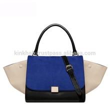 Women Designer Inspire Fashion Trapeze Big Ears Smiley Swing Bag Tricolor Celebrity Handbag