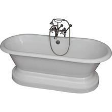 "Barclay TKCTDRNB-SN2 White/Brushed Nickel Universal Tub Kit 67"" Ci DBL Roll, Base, Filler, Supplies, Drain"