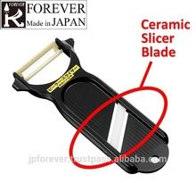 julienne vegetable slicer, ceramic peeler and slicer kitchen tool, ceramic blades are resistant to rust, wear, acids and alkalis