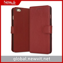 Newvit walet case for iPhone 6 / Genuine leather / Card slot provided / Standing function
