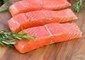 parcela salmão congelado