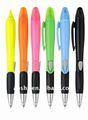 Nova highlighters promocionais, seco marcadores& borrachas, esferográfica& highlighter caneta combinação