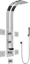 Graff GE1.120ALM39SPC Qubic Tre Thermostatic Ski Shower System GE1.120A-LM39S in Polished Chrome (PC) - Bathroom Shower Thermost
