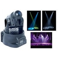 Moving Head LED Spot Light 15W mini 9 Gobos