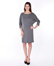 BOAT NECK BATWING SLEEVE DRESS