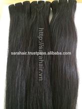Sarahair 100% remy hair extension silky straight Vietnamese remi double drawn hair