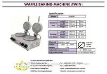 Waffle Baking Machine (Twin Burner)