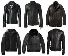 Men's Hooded Black Sheep Skin Genuine Leather Jacket-RS157