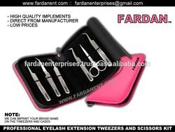 Fashion style Luxury 3D volume tweezers, private label eye lashes tweezers