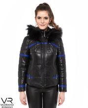 Black Color Fur Hoodies Leather Jacket