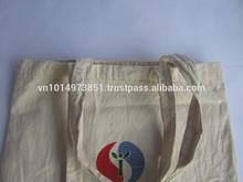 Fancy 100% Natural White Color Cotton Calico/manta bag for promotion