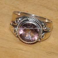 Pink quartz Beautiful 925 Silver Ring, Gemstone Ring Jewelry Wholesaler ER835