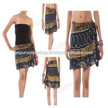girls sanganeri print cotton short skirt multi colored cotton skirt
