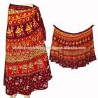 indian cotton wrap skirts / handmade sanganeri printed long skirt