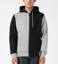 Hotting Selling Fashion Blank and Gray Men's Zipper Hoodie For Men,100% cotton fleece sweatershirt / full zipper hoodies for men