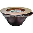 HPC Mesa Copper Round Gas Fire & Water Bowl - LP - Electronic