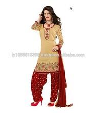 Printed Punjabi Suit   Latest Ladies Suit