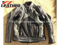 Motor bike leather jacket vintage racing leather jacket for mens