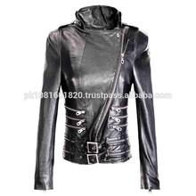 Fashion women pu leather jacket for women garments leather coat leather jacket