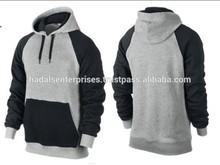 Zipper hoodie plain black high quality / plain hoodies sweatshirts