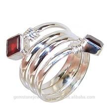Fancy Garnet Sterling Silver Cheap Rate Girls Ring Jewelry