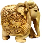 Indian Wooden Carving Elephant Handicraft Home Decor Items From India