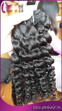 New arrival new style good Vietnamese human hair wavy, curly hair extensions best price long length 32 inchs