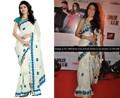 Triveni geleneksel nakış Hint Bollywood sari 84015