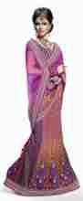 Triveni Broad Border Laced Embroidered Lehenga Saree 3010