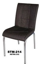 black fabric metal dinning chair / new design office metal chair