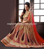Designer Beaded Hand Embroided Bridal Lehenga/Lengha - Wedding Lehengas Choli - Bollywood Ghagra