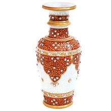 Marble flower vase meenakari and kundan work