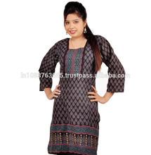 2015 new across fashion ladies top blouse woman clothing Indian-pakistani designer long kurtis...