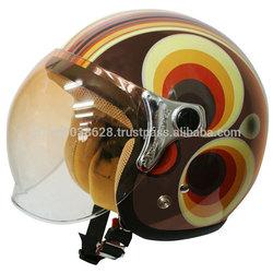 Retro and modern style design helmet for girls' riders.