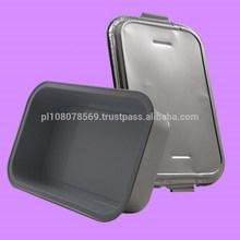 Aluminium foil casserole food container