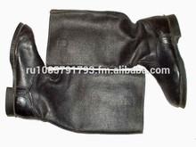 Tarpaulin boots and overcoat Soviet-style