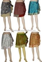Buy Sari Made Reversible Wrap Skirts from Pushkar India