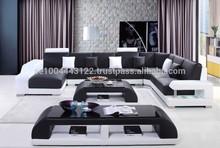 Milan XXL Black & White Sofa