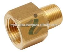 Brass Pipe Adapter 1/4 F -1/4M