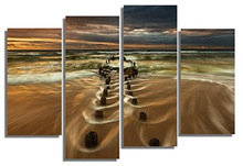 Glass Wall Art Acrylic Decor Set Road to the Sea Set of 5 Total