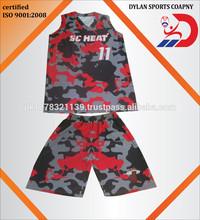 custom fully sublimated basketball jersey shorts/uniform with customer mock up