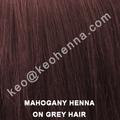 o pó de henna mahogany cor do cabelo