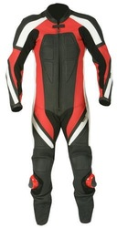 Motorbike Leather Racing Suit Red