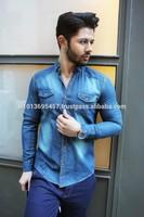 High Quality Turkish Workmanship % 100 cotton Jean Men Shirt