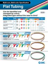 Various flat type pneumatic tubing and SMC valve actuator